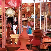 "With her photo, ""Pottery Market,"" shot in Cuenca, Ecuador, in 2006, Kathryn Broker-Bullick '06 garnered second place in the People and Culture category of the UW's annual Study Abroad Photo Contest."
