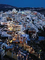 """Fira at Dusk"" captured second place in the Urban Landscapes category for John Vanek '08, who shot the photo in 2007 in Santorini, Greece."