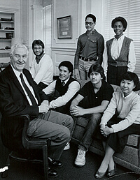 The first class of Chancellor's Scholars, 1984.