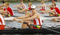 Big Red goes Blue: Ed Newman rowed for the Badgers before his graduation; now he pulls for Oxford. Photo: Greg Anderson