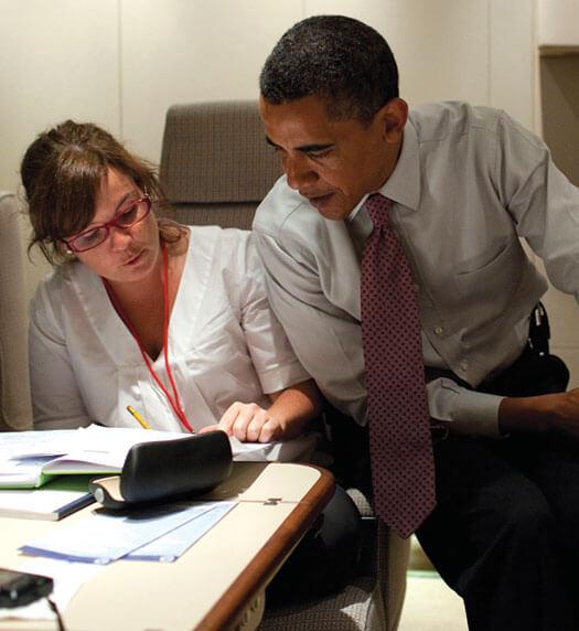 Obama and Mastromonaco
