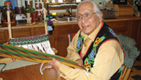 <p>Dennis White works to preserve Ojibwe culture. Photo: Cleora White</p>
