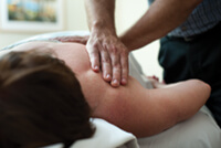 "<p>Massage therapists treat conditions such as back and neck pain, headaches, sports injuries, and stress. According to a clinic brochure, the staff focuses on less invasive therapies such as massage ""to help remove barriers that may be blocking the body's ability to heal.""</p>"