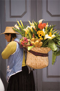 Woman with flowers. Photo: Danita Delimont/Alamy