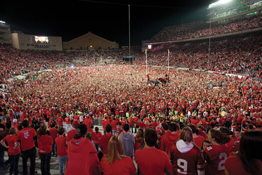 Camp Randall after the OSU game