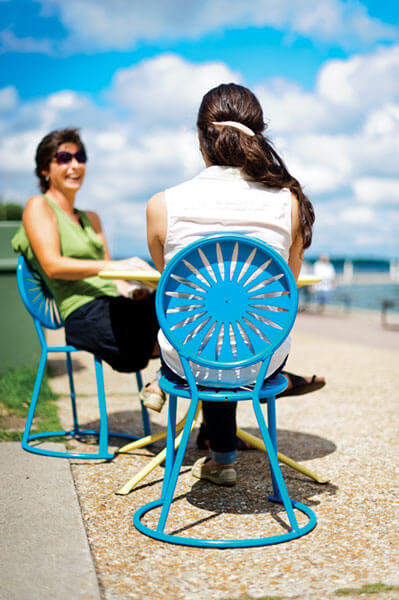 terrace & A Chair of a Different Color | On Wisconsin Magazine