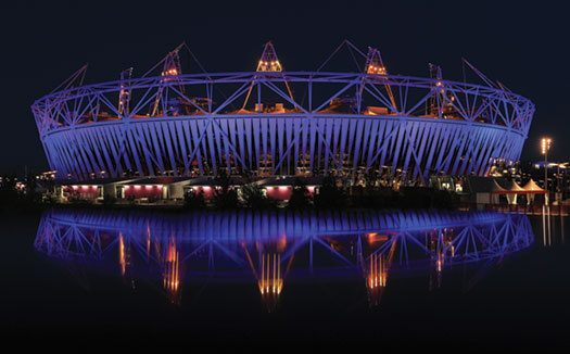 The Olympic Stadium in London's Olympic Park is pictured prior to the 2012 Games. As an example of the sums of money that nations can spend on the worldwide contests, the opening ceremony alone for the 2014 Olympics in Sochi is expected to cost Russia about $52 million. Phil Walter/Getty Images.