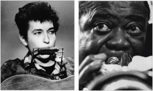 Bob Dylan and Louis Armstrong