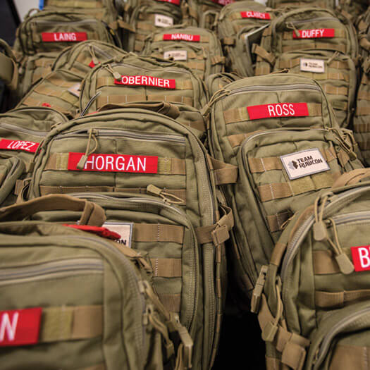 Team Rubicon backpacks