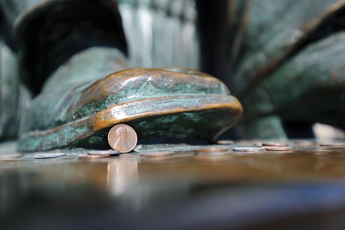 Lincoln statue, Lincoln penny