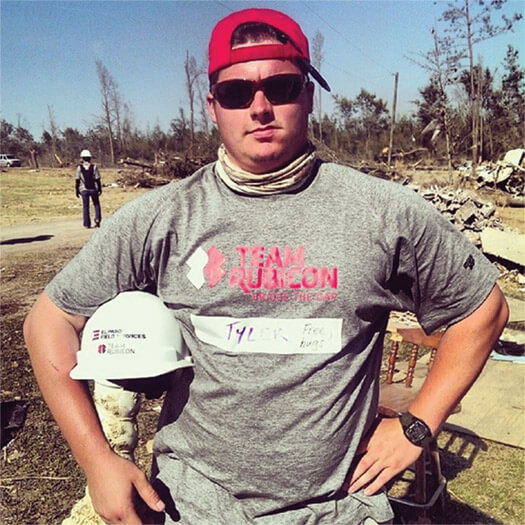 Team Rubicon member in the field