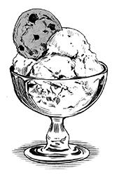 Ice cream in a dish