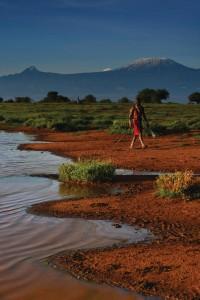 A Masai warrior on patrol