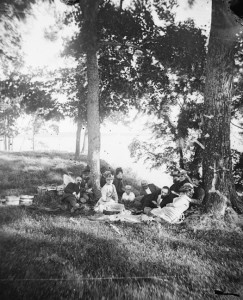 Archival image of people enjoying Picnic Point