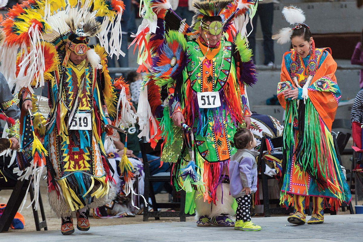 Dancers at the spring powwow