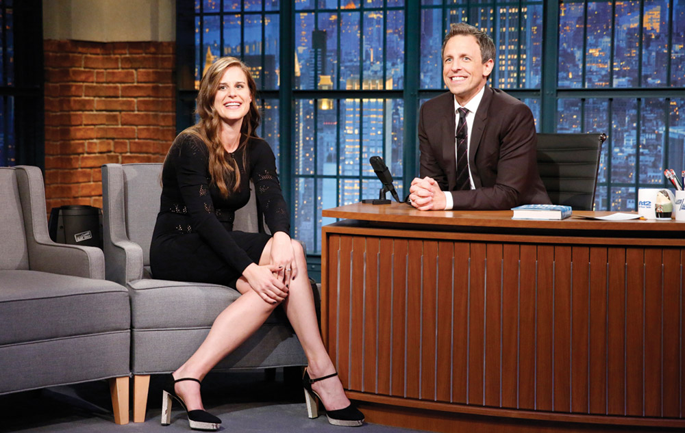 Lauren Groff and Seth Meyers