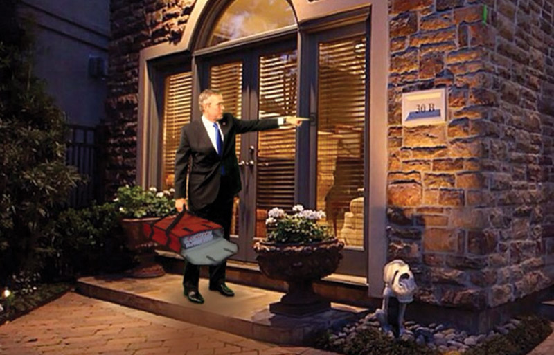 Jeb Bush meme: delivering Pizza