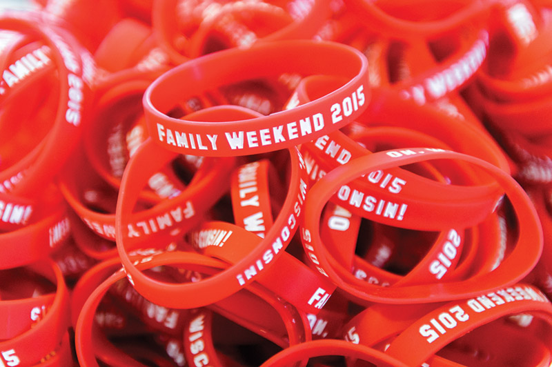 Family Weekend red bracelet