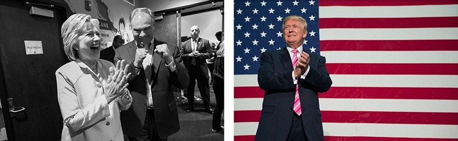 Instagram images from the Clinton and Trump campaigns