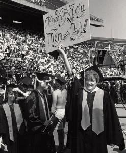 Archival photo from commencement