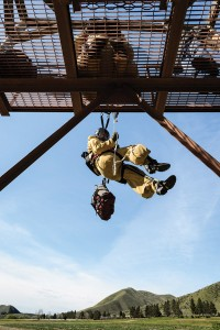 "The rookies train outside of Boise in an area they call ""the units,"" developing skills such as rapelling and climbing before progressing to training jumps."
