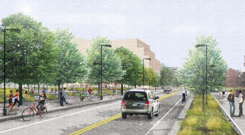 West Dayton Street would see more trees to manage storm water runoff.