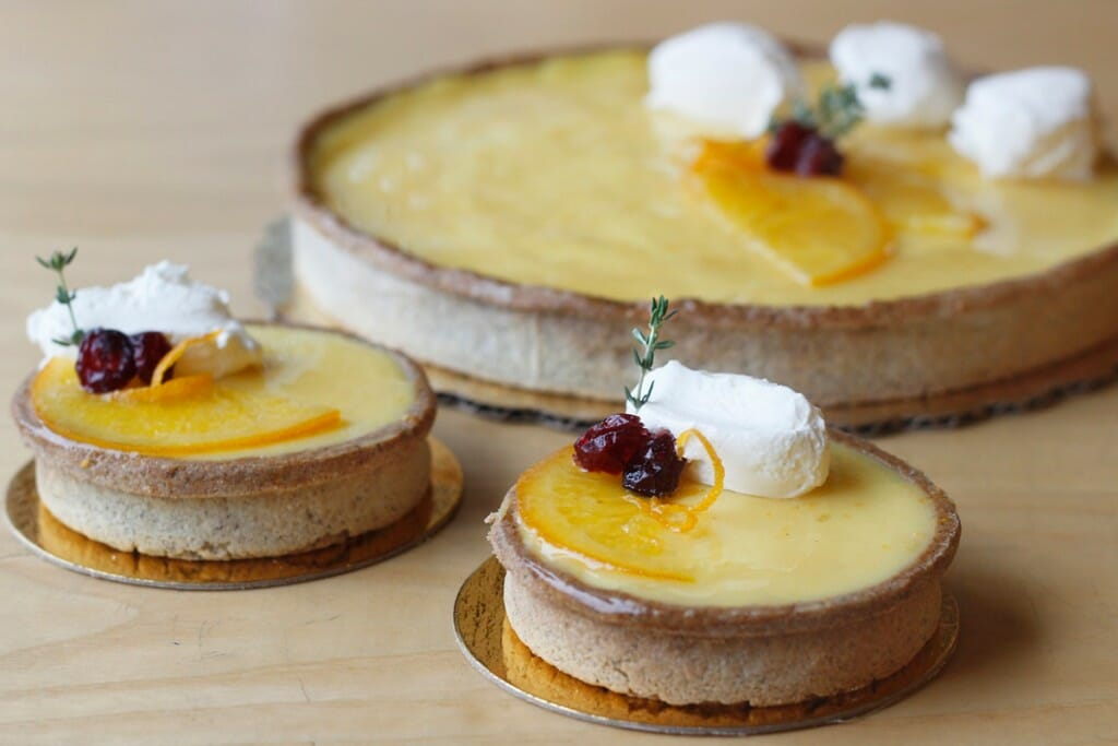 Dessert tarts from Madison Sourdough bakery