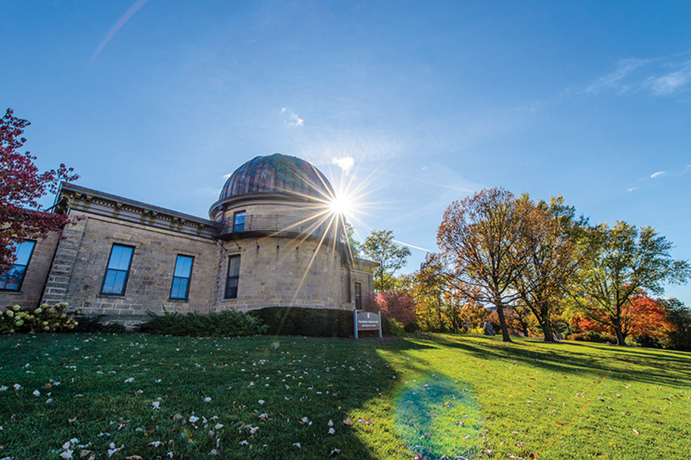 Exterior of the Washburn Observatory