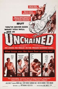 "Illustrated poster for movie, ""Unchained"""