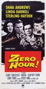 "Poster for movie, ""Zero Hour!"""