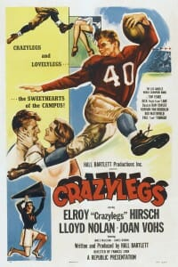 "Illustrated poster for movie, ""Crazylegs"""