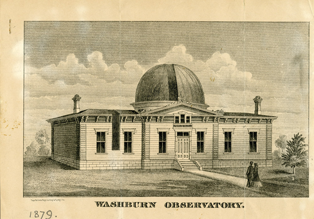 Historical illustration of the Washburn Observatory