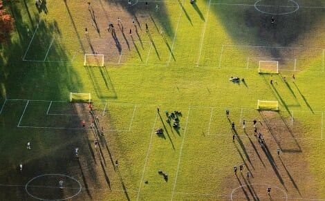 Aerial shot of UW athletic field