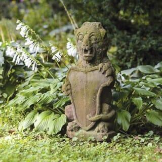 Sandstone statue in a garden