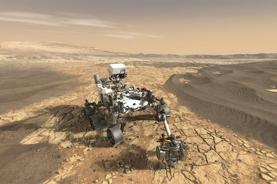Computer rendering of Mars Rover