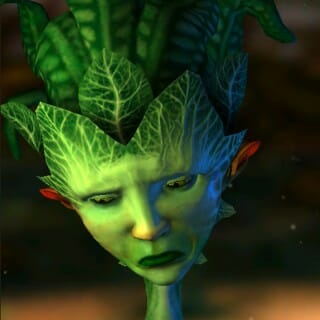 Computer rendering of plant-like character