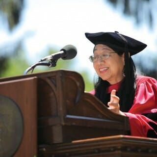 Sau Lan Wu speaks at Vassar College commencement