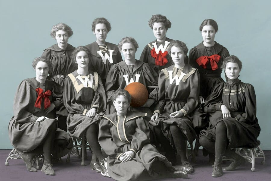 Photo of 1897 UW Women's basketball team