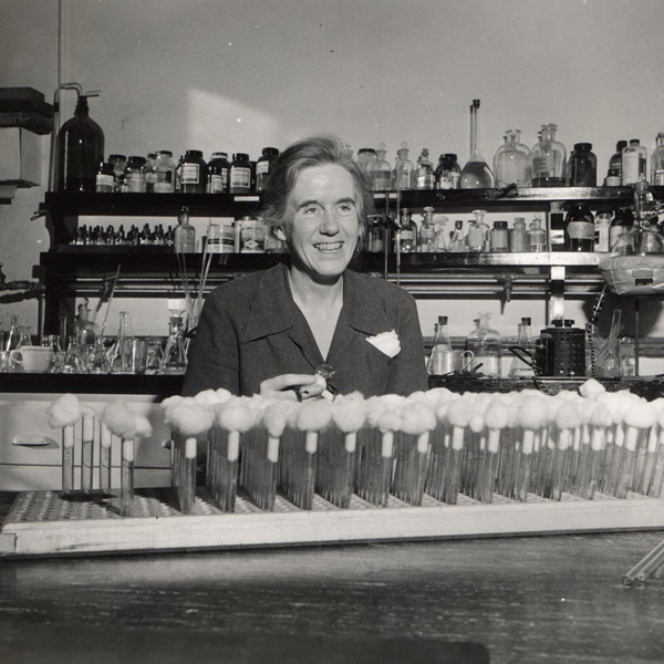 Elizabeth McCoy in laboratory