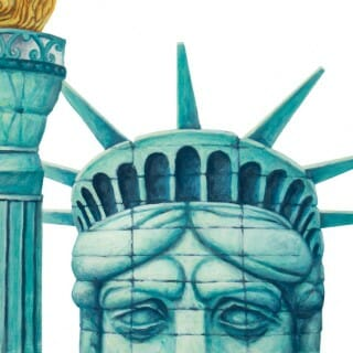 Illustration of Lady Liberty