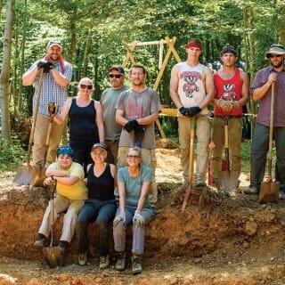 Crew of volunteers from UW–Madison's MIA Project