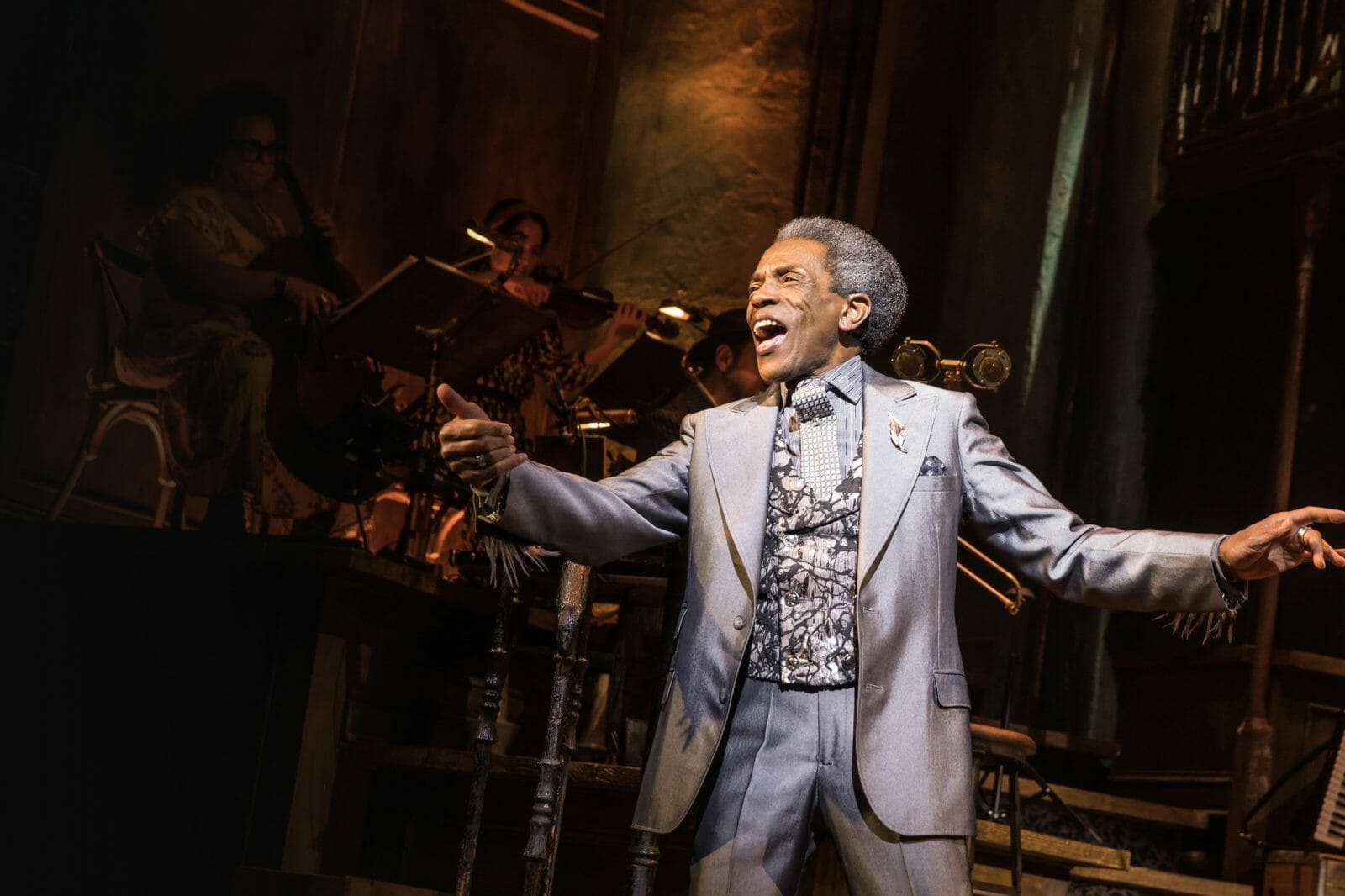 André De Shields performing in the musical, Hadestown