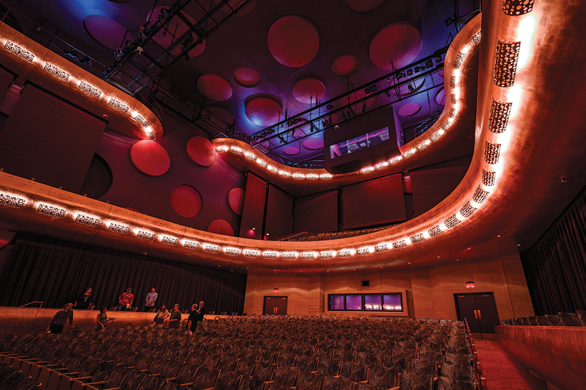 Interior of theater