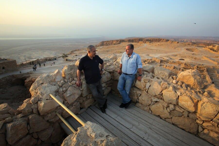 Greenberg with Israeli prime minister Benjamin Netanyahu