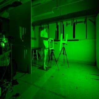 Light bounces off a wall to capture complex hidden scenes.
