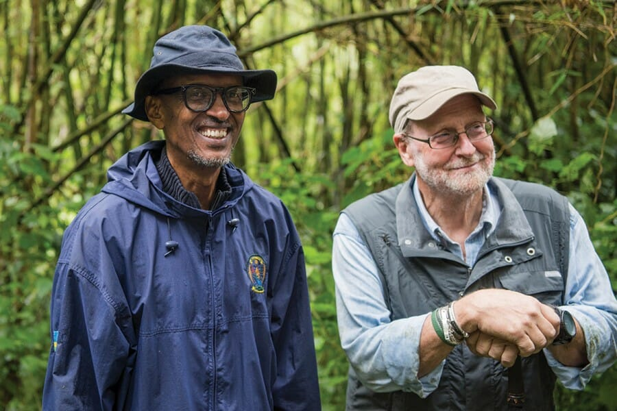 Greenberg with Rwandan president Paul Kagame