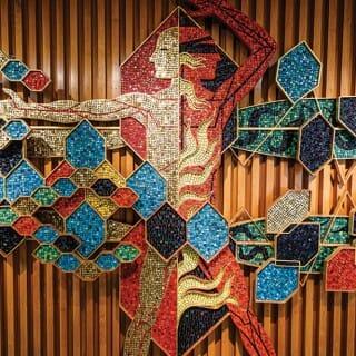 """Man — Creator of Order and Disorder"" mosaic"