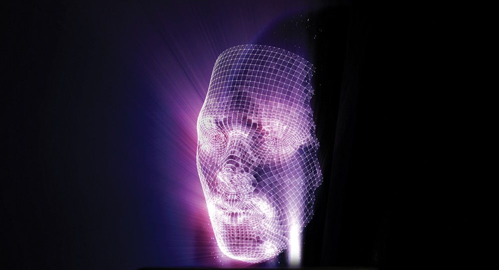 Three-dimensional rendering of a face