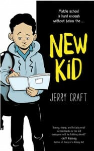 Book cover for New Kid, written and illustrated by Jerry Craft