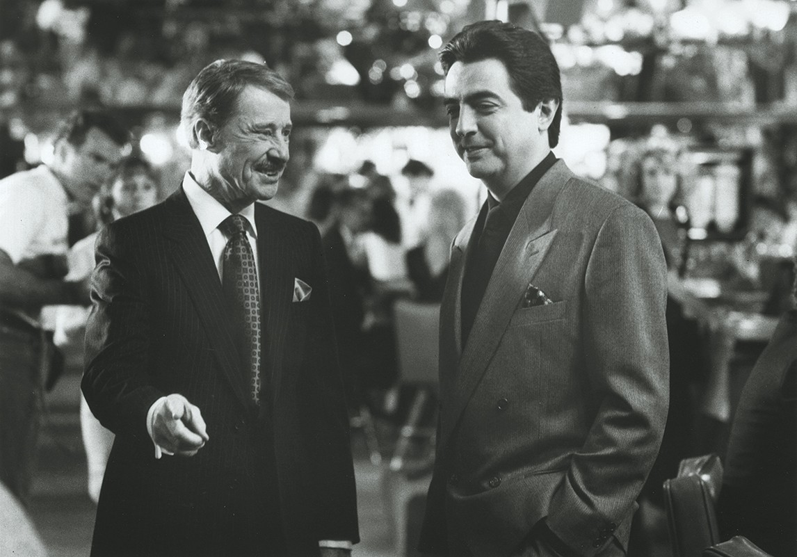 Don Ameche and Joe Mantegna in a scene from Things Change